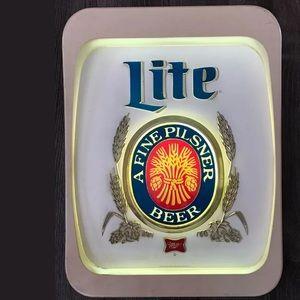 Miller Lite, Vintage Lighted Sign